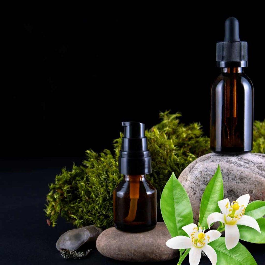 masaje con aceite esencial de neroli