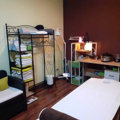 habitación centro de masajes elyatherapies